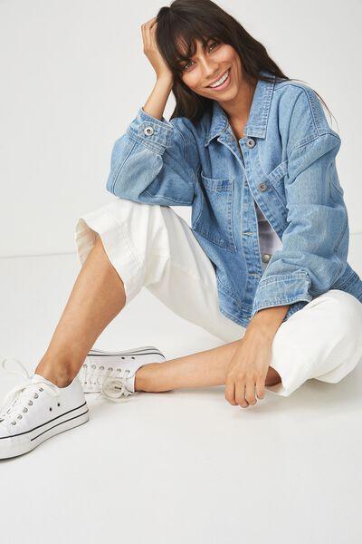 Eloise Fashion Eisenhower Jacket, DENIM