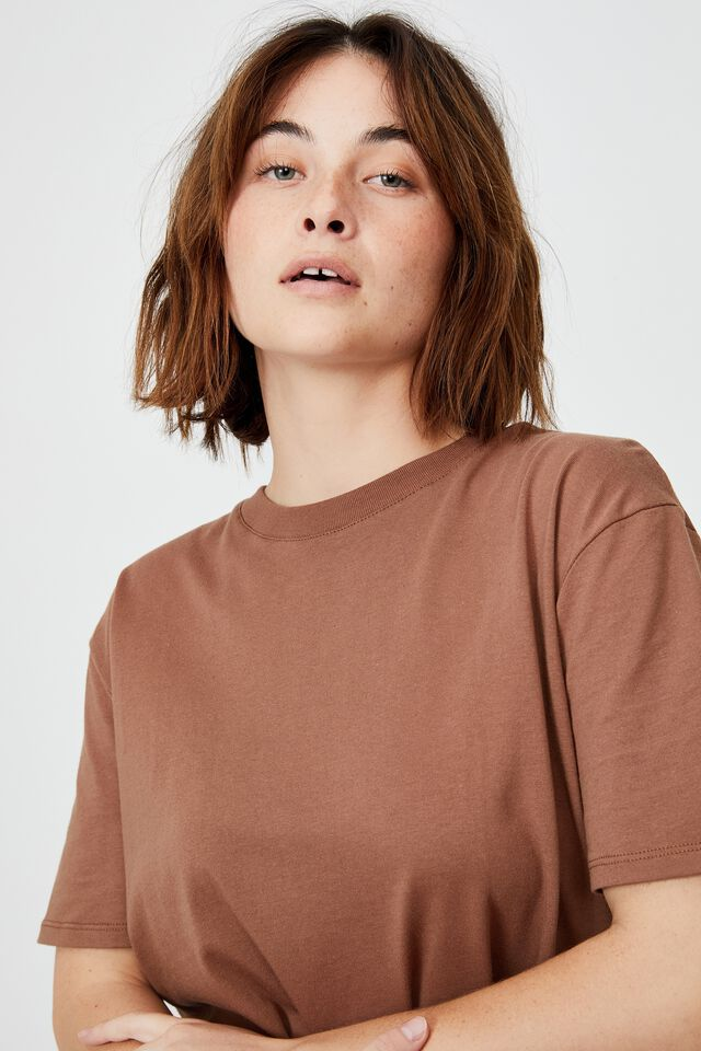 The Oversized Dad Tee, COCOA BEAN