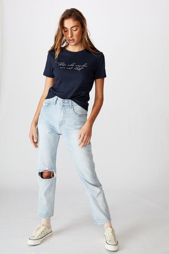 Essential Slogan T Shirt, THOSE WHO WANDER/MOONLIGHT