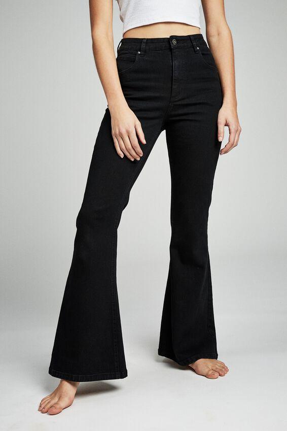 Vintage Flare Jean, BLACK