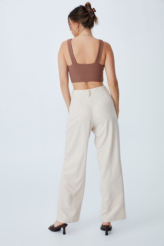 Day To Night Bust Crop Top, COCOA BEAN
