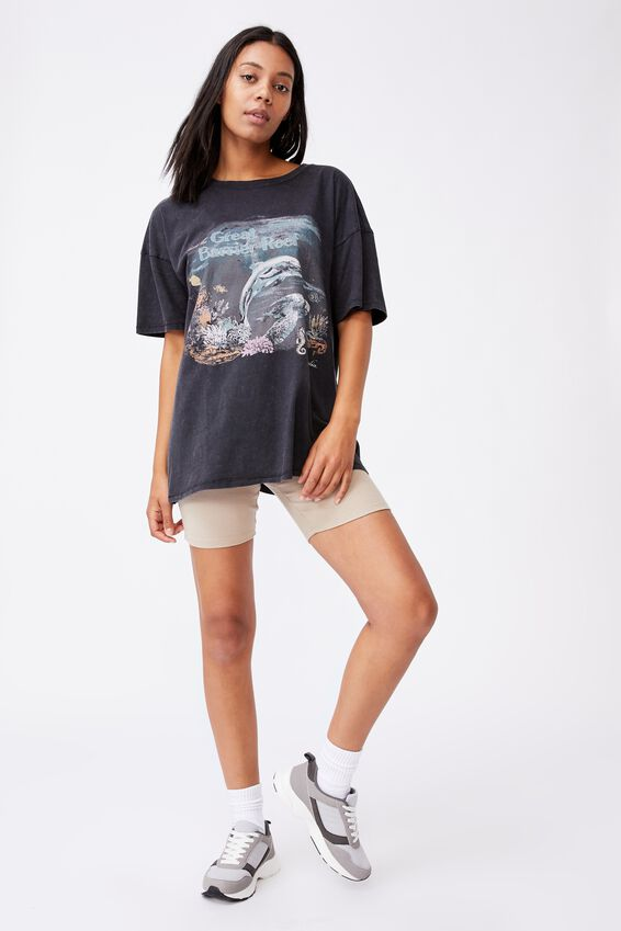 Oversized Graphic T Shirt Dress, GREAT BARRIER REEF/BLACK