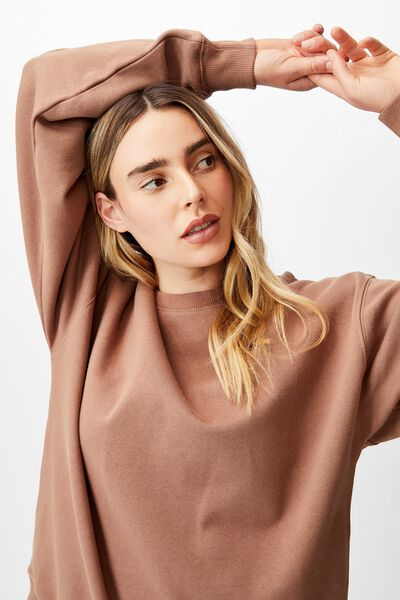 Classic Sweatshirt, COCOA BEAN