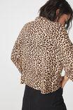 Rebecca Chopped Shirt, SARAH LEOPARD ESPRESSO