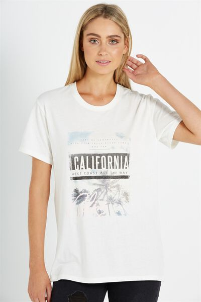Tbar Fox Graphic T Shirt, CALIFORNIA PHOTO/GARDENIA