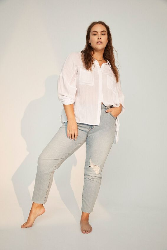 Curve Taylor Mom Jean, BLUE RIPS