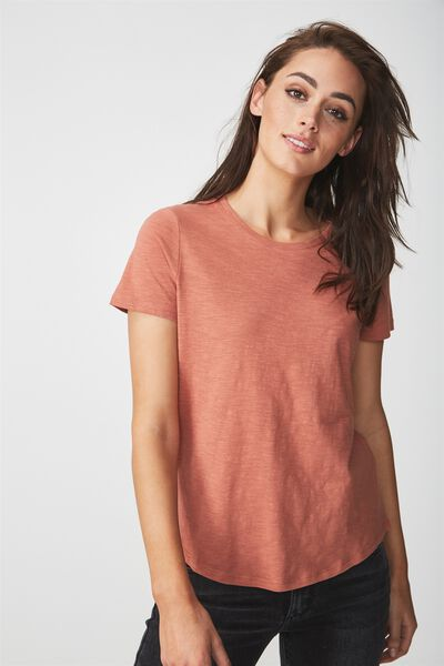 The Crew T Shirt, COPPER BROWN