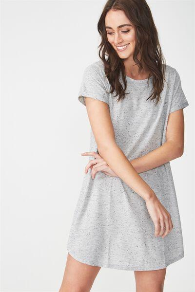Tina Tshirt Dress 2, GREY NEP