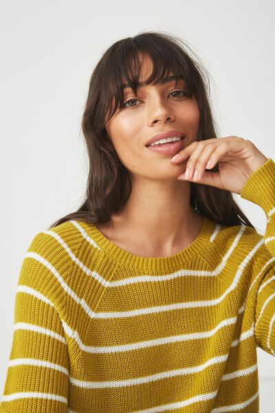 Archy 5 Pullover, ANTIQUE MOSS WHITE STRIPE