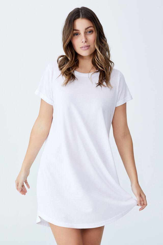 Tina Tshirt Dress 2, WHITE