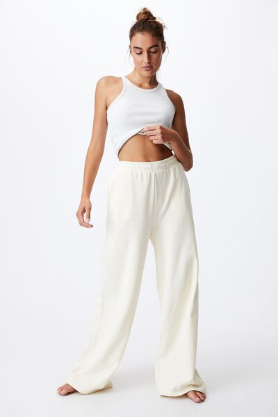 Classic Wide Leg Track Pant, PASTRY