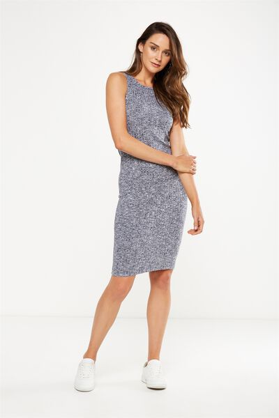 Lena Midi Dress, NAVY/WHITE TWIST