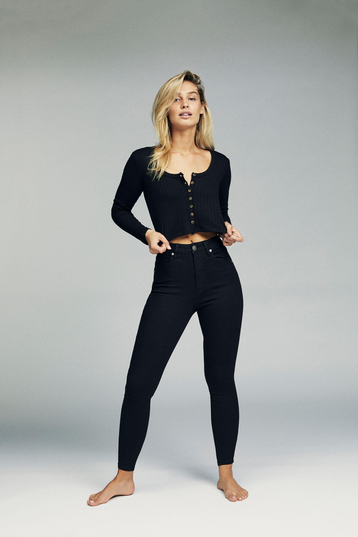 High Rise Cropped Skinny Jean