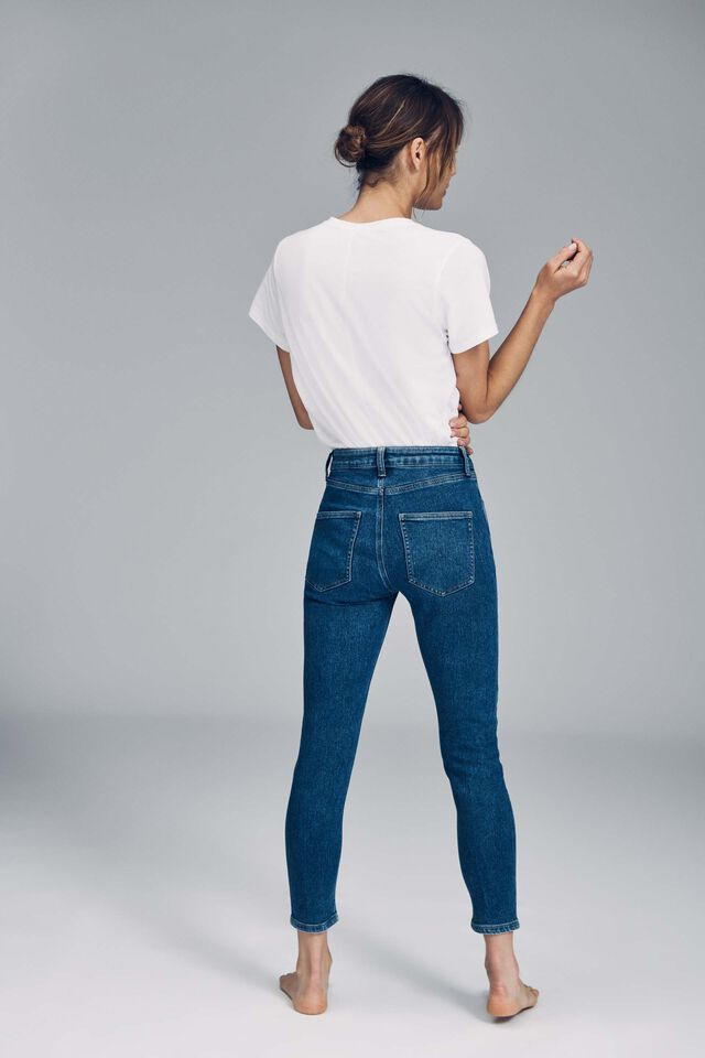 Mid Rise Cropped Super Stretch, COOGEE BLUE POCKETS
