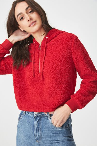 Teddy Hoodie, JESTER RED