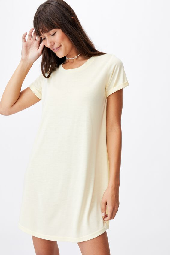 Tina Tshirt Dress 2, LEMON
