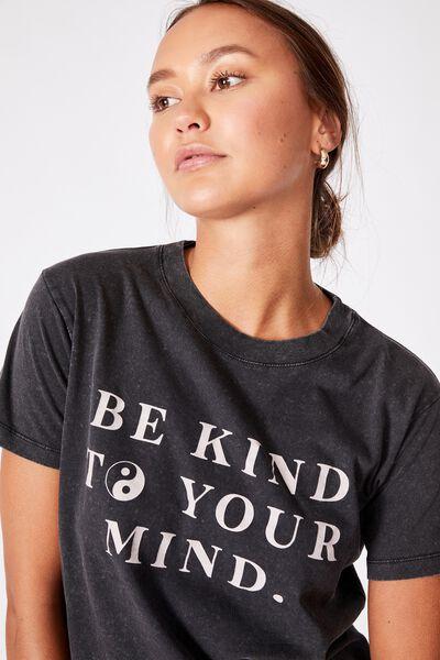 Classic Slogan T Shirt, BE KIND/BLACK