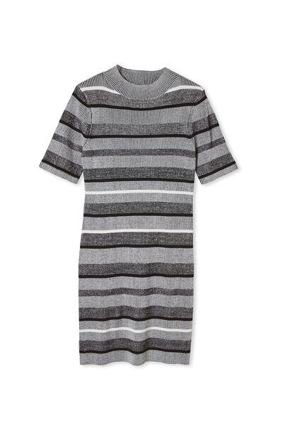 Curve Tahlia True Knit Mini Dress, MARTHA STRIPE