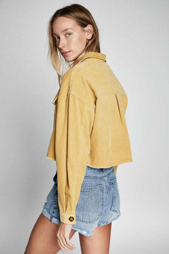 Button Cord Shacket, COCOON