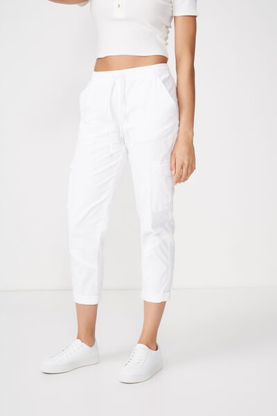 Rolled Hem Chino, WHITE