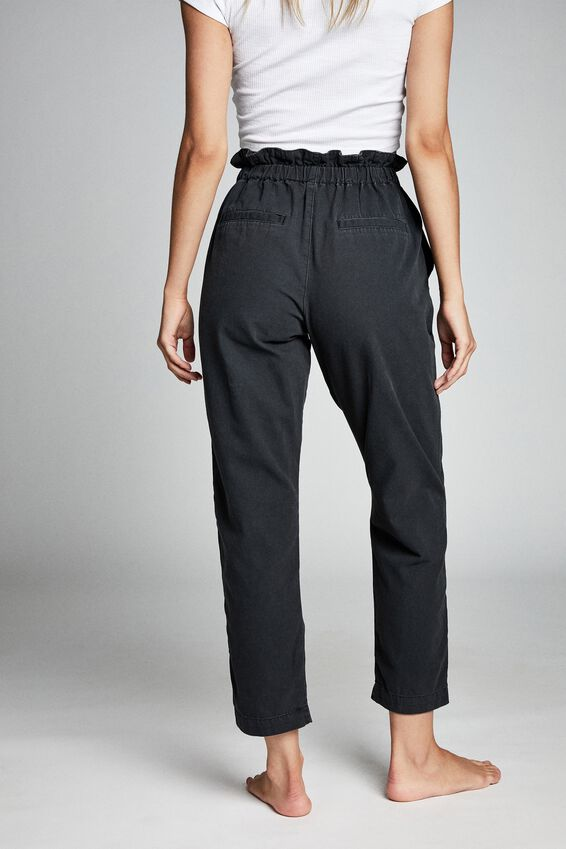 Paperbag Pant, WASHED BLACK