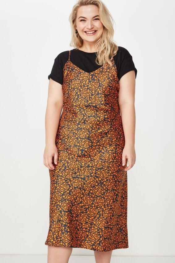 Curve Slip Dress, MADDY DITSY EXUBERANCE
