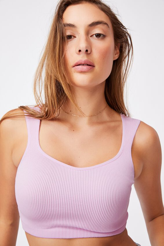 Cleo Cap Sleeve Seamless Tank, SOFT ORCHID
