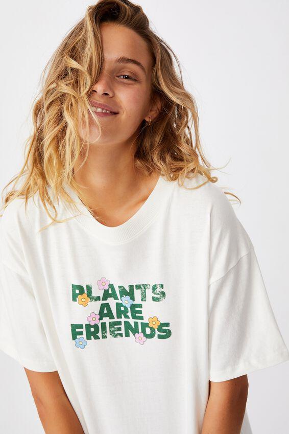 The Original Graphic Tee, PLANTS ARE FRIENDS/GARDENIA