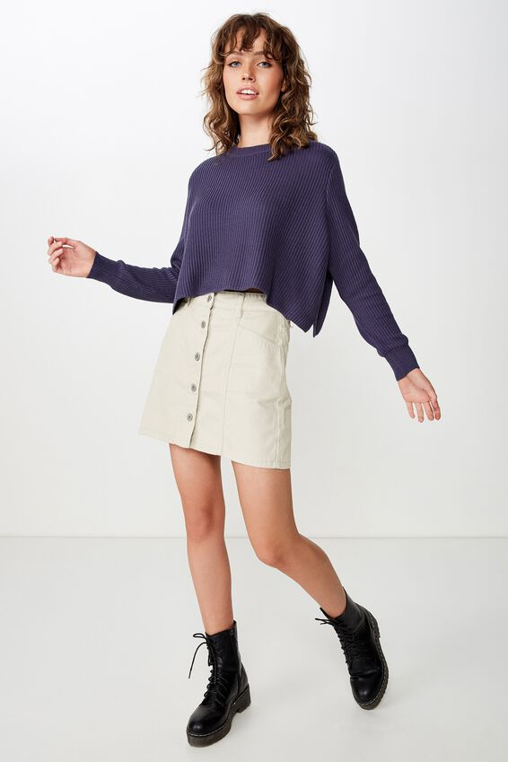 Archy Cropped 2 Pullover, CROWN BLUE