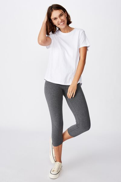 3/4 High Waisted Dylan Legging, CHARCOAL MARLE