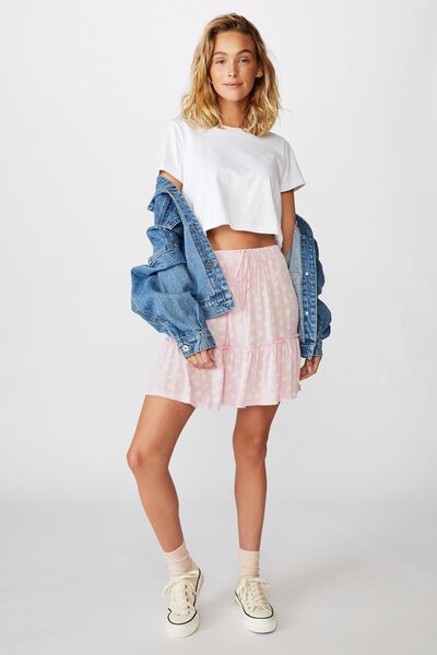Penny Tiered Mini Skirt, SOPHIA DAISY ORCHID