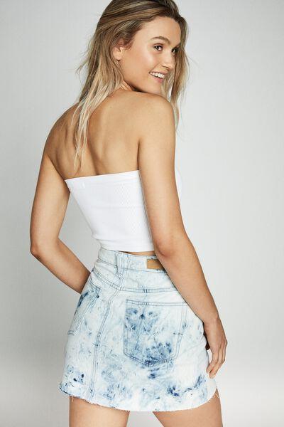 The Classic Denim Skirt, TIE DIE