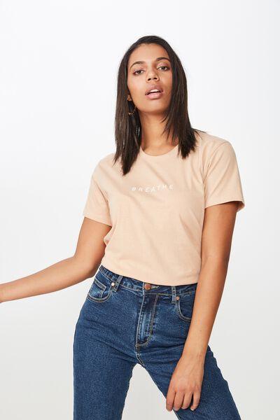 Classic Slogan T Shirt, BREATHE/BRUSH