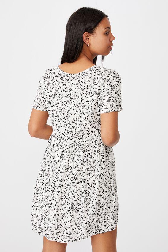 The Good Times Babydoll Mini Dress, SERENA DITSY WHITE