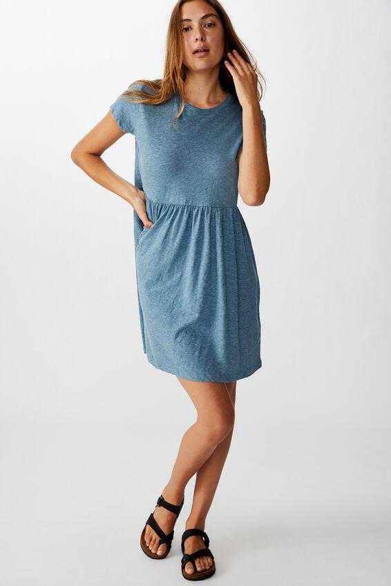 Tina Babydoll Tshirt Dress, PROVINCIAL BLUE MARLE