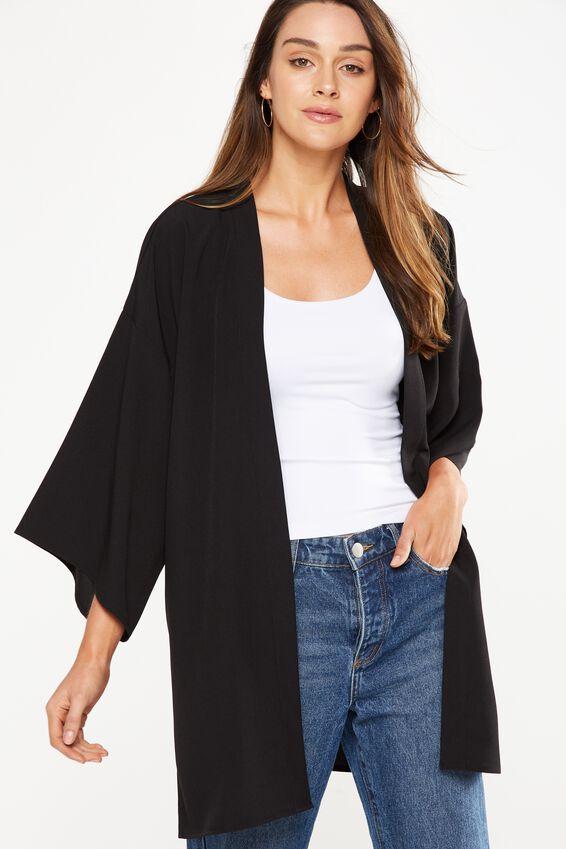 Holly Kimono, O BLACK