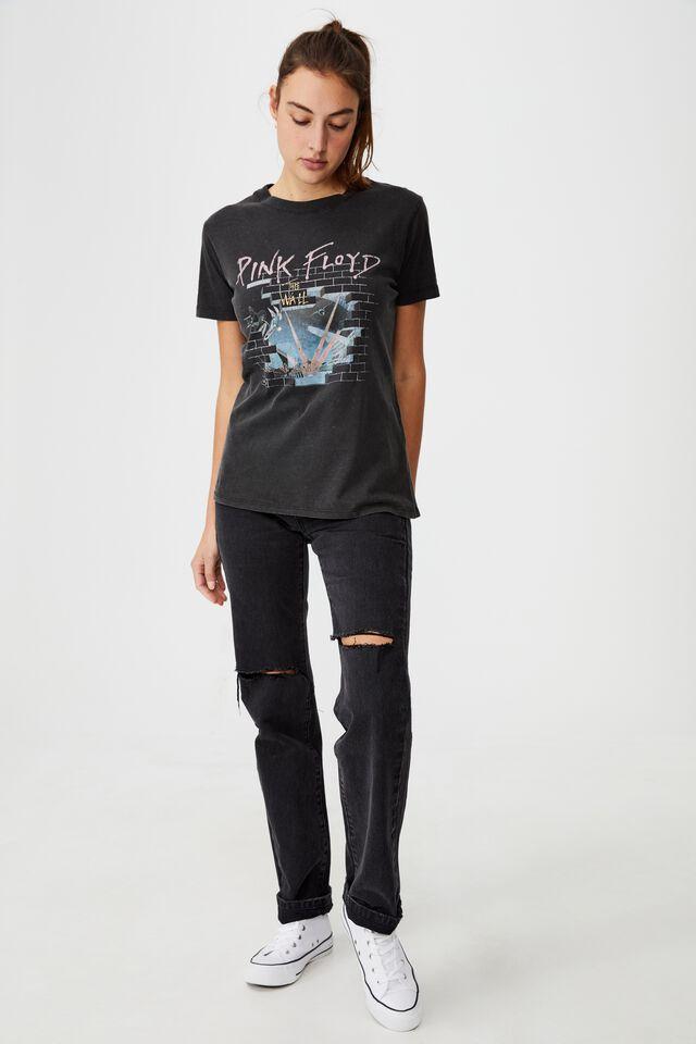 Classic Pink Floyd T Shirt, LCN PER PINK FLOYD WALL/BLACK