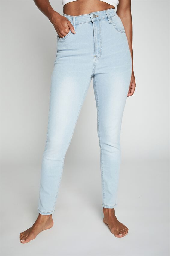 High Rise Cropped Skinny Jean, BROOKLYN BLUE RIPS