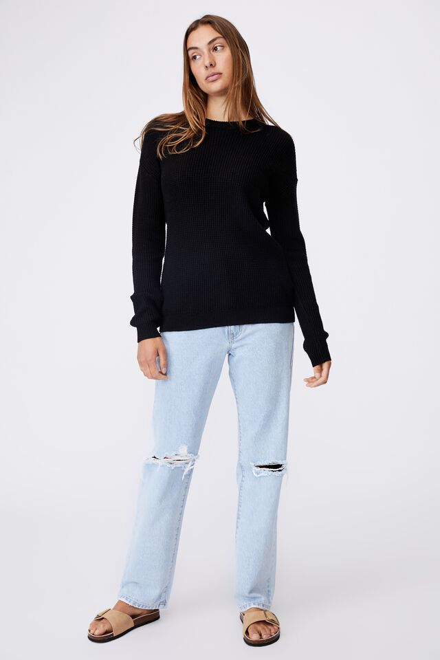 Everyday Pullover, BLACK