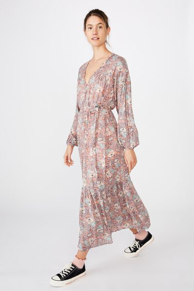 Woven Jacinta Maxi Dress, EMILY PAISLEY FLORAL CANYON CLAY