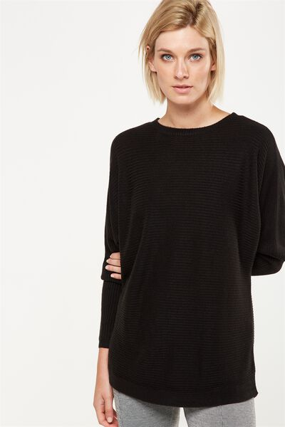 Batwing Lounge 2 Pullover, BLACK