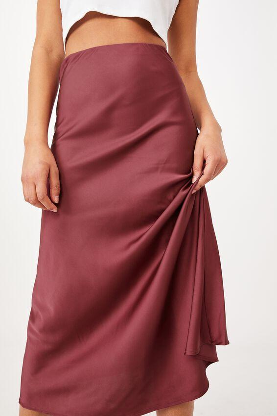 All Day Slip Skirt, DARK GRAPE