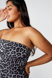 Curve Strapless One Piece Cheeky, ANIMAL