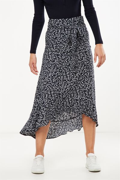 Woven Carlette Maxi Skirt, PERRIE VINE TOTAL ECLIPSE