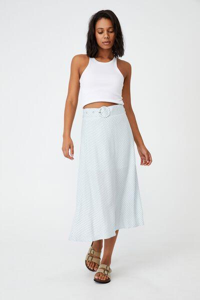 Kelly Belted Midi Skirt, TIFFANY SPOT PLEIN AIR