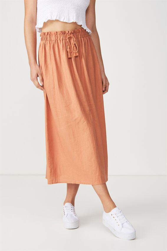 Woven Marnie Midi Skirt, SAHARA