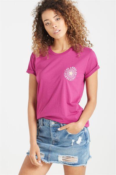 Tbar Fox Graphic T Shirt, LA CHEST PRINT/ACAI