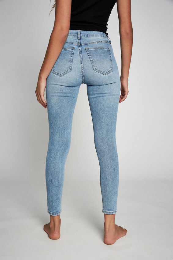 Mid Rise Cropped Skinny Jean, BRIGHTON BLUE