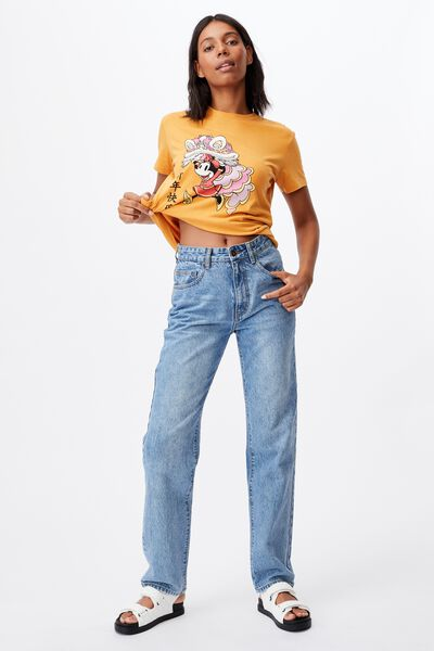 Classic Cny Graphic T Shirt, LCN DIS MINNIE DRAGON/GOLDEN HOUR YELLOW
