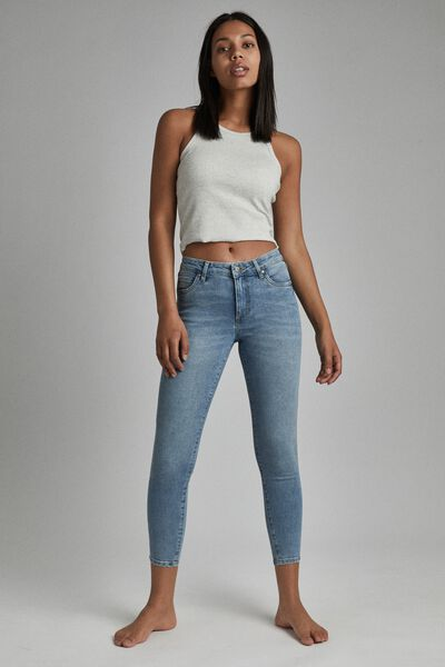 Mid Rise Cropped Skinny Jean, AIREYS BLUE